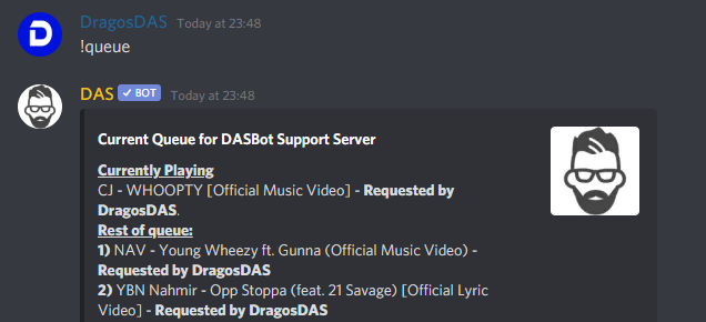 How to use DASBot for Music